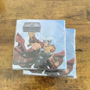 2 PACKS OF 16 COUNT 2PLY AVENGERS NAPKINS